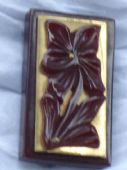 1940's Deep Carved Bakelite Dress Clip